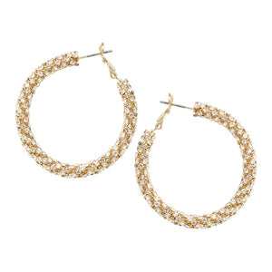 Confetti Diamond Hoop Earrings