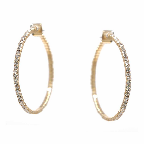 Infinity Hoop Diamond Earrings