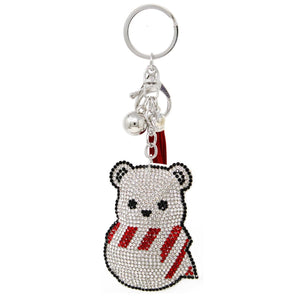 Diamond Polar Bear Keychain