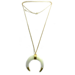 Gold Tipped Horn Necklace