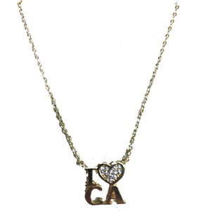 """I love CA"" Necklace"