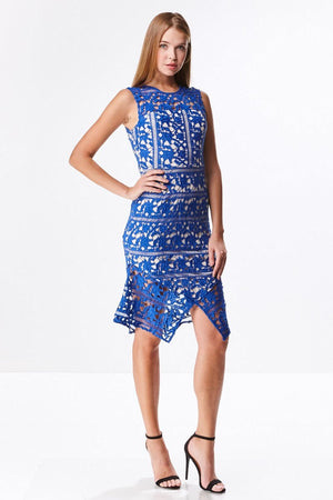 Lace Peek-A-Boo Midi Dress