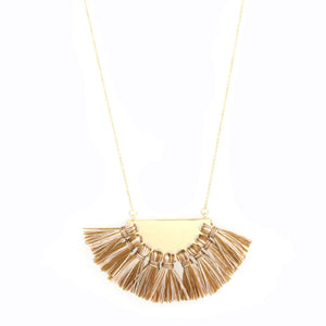 Fringe Fan Necklace