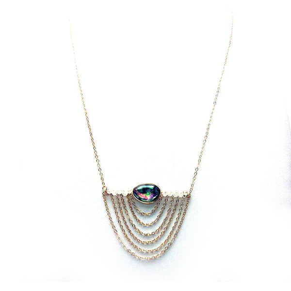 Oval W/Layering Chains