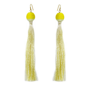 Dip Dye Ball & Fringe Earrings