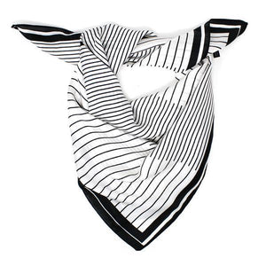 Dimentional Stripes Faux Silk Scarf