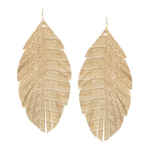 Faux Snake Feather Earrings