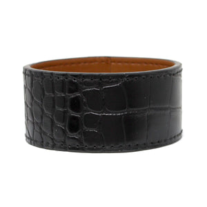 Faux Croc Leather Maxi Bangle