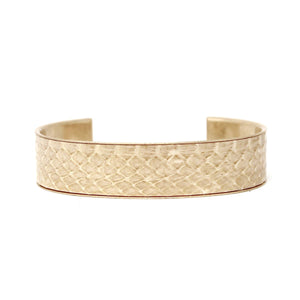 Gold Lined Faux Snake Cuff