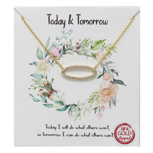 Today & Tomorrow Carded Necklace