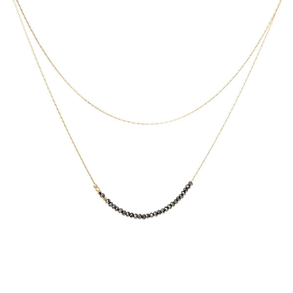 Layered Dainty Bead Necklace