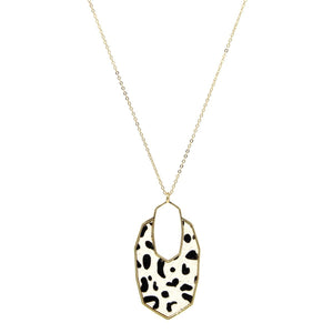 Animal Print Pendant Necklace