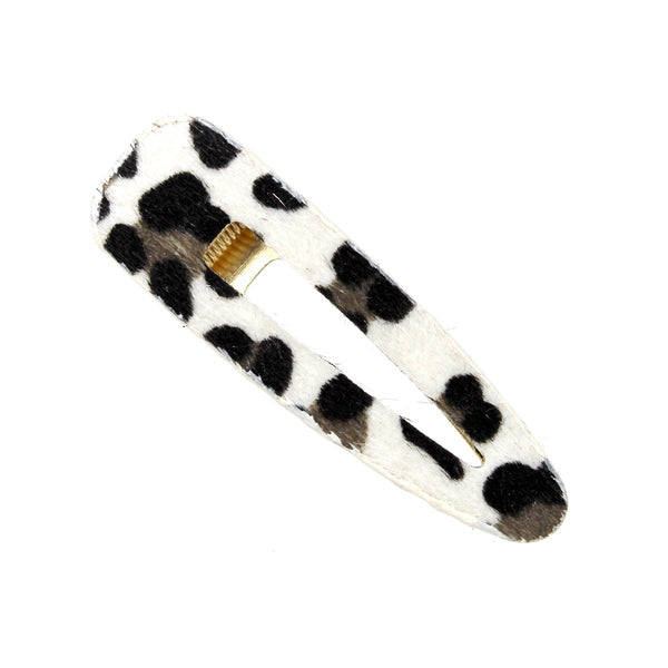 Animal Print Textured Hair Clip