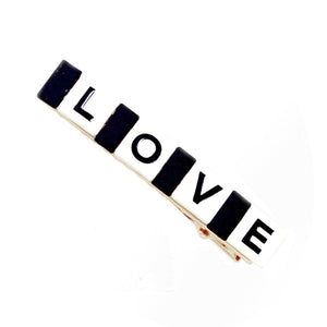 Graphic Love Hair Clip