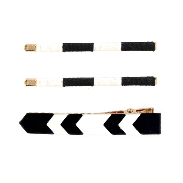 Graphic Hair Clip Set