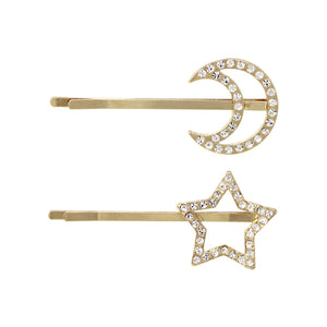 Star & Moon Hair Pin Set