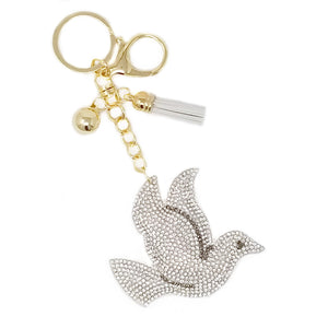 Diamond Dove Keychain