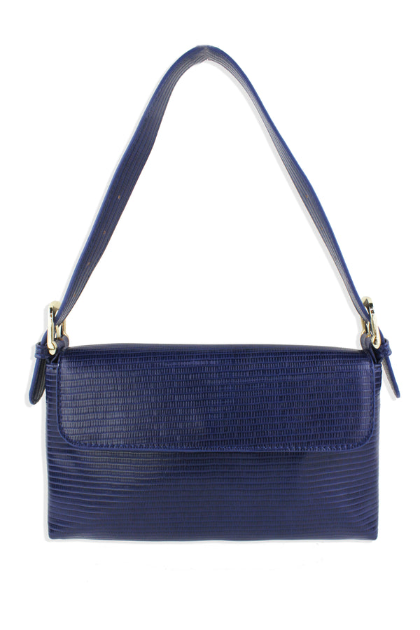 LIZARD EMBOSSED SHOULDER BAG