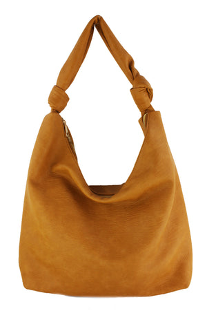 LARGE HOBO BAG W/ KNOT HANDLE DETAIL