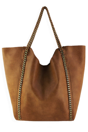 NORTH SOUTH CHAIN TOTE