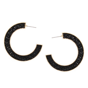 Lattice Hoop Earrings