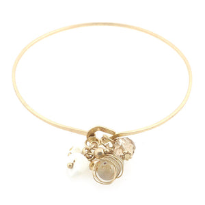 Crystal Charms Bangle Bracelet