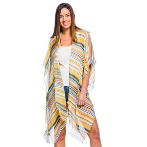 Cabana Stripe Open Cover Up