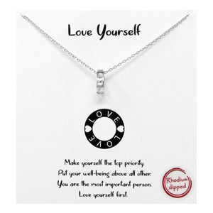 Love Yourself Carded Necklace