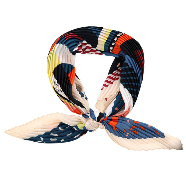Artist Print Pleated Neck Scarf