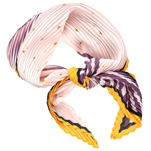 Stars & Stripes Pleated Neck Scarf