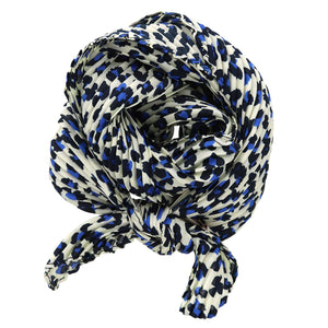 Pleated Aninal Print Neck Scarf