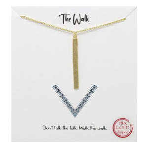 The Walk Carded Necklace