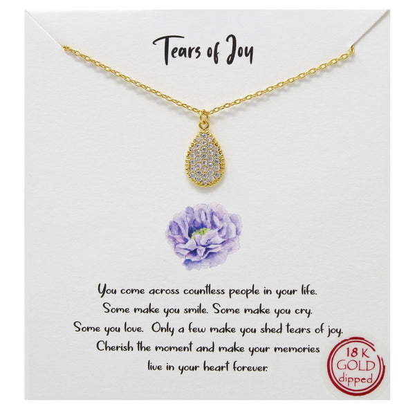Tears Of Joy Carded Necklace