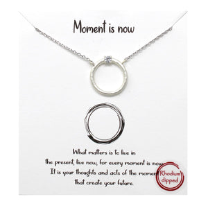 Moment is Now Carded Necklace