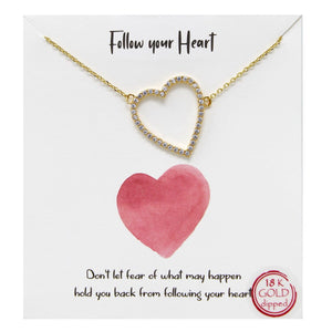 Follow Your Heart Carded Necklace