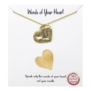 Words of Your Heart Carded Necklace