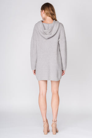 Sweater Dress with Hoodie