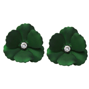 Diamond Flower Bud Earrings