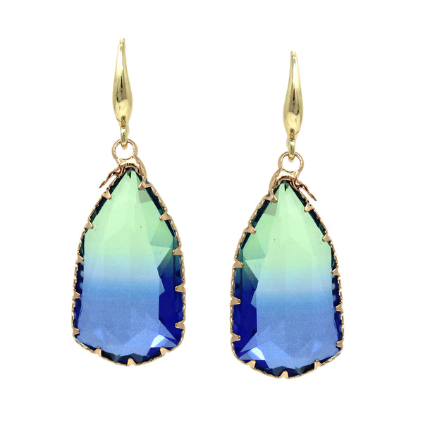 Gradient Glass Drop Earrings