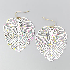 Splatter Palms Earrings