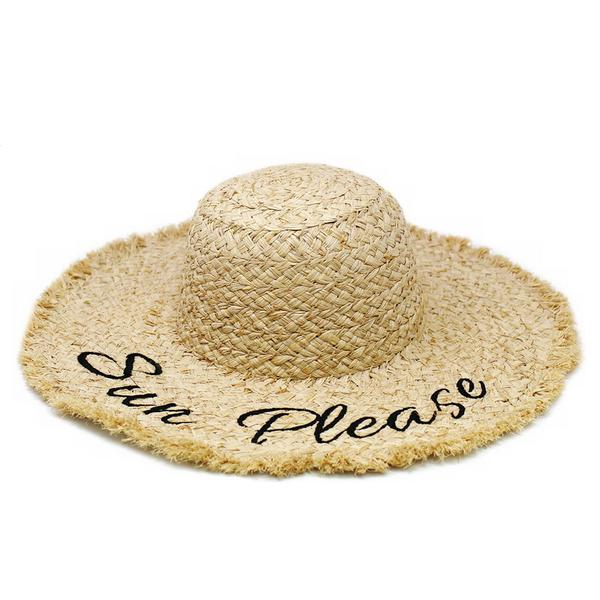 """Sun Please"" Straw Hat"