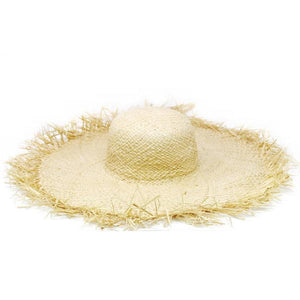 Frayed Edge Wide Sun Hat
