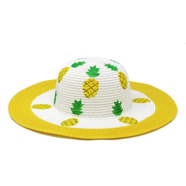 Pineapples Medium Brim Sun Hat