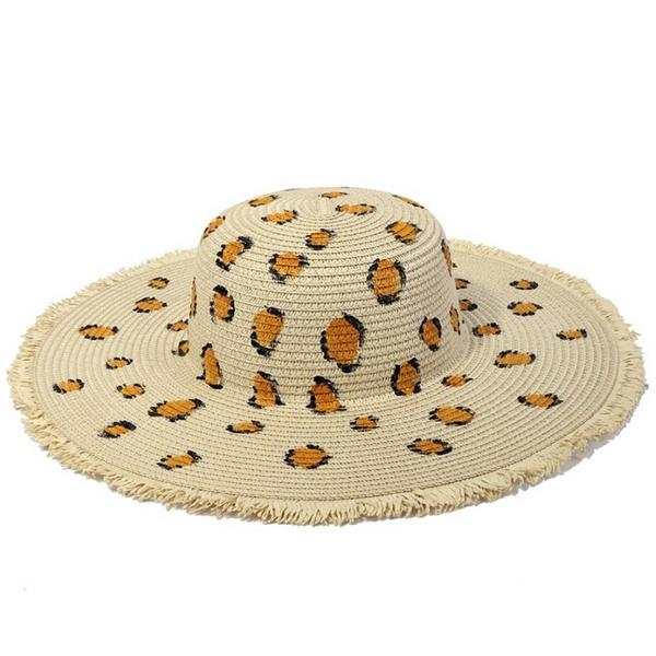 Animal Frayed Sun Hat