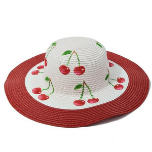 Cherries Medium Brim Sun Hat