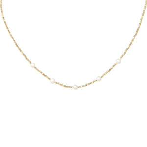 Dainty Dots Pearl Necklace
