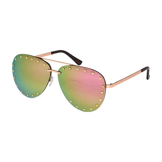 Gold Dots Aviator Sunglasses