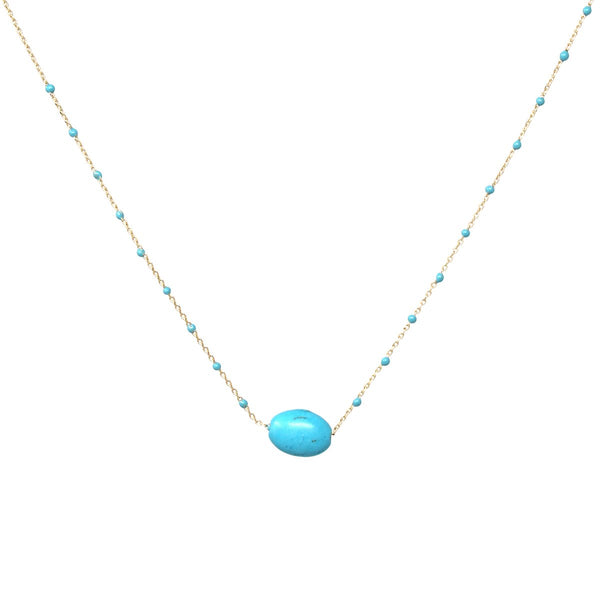 Dainty Turquoise Dots Necklace
