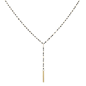Dainty Drops Bar Necklace