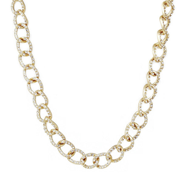 Diamond Links Statement Necklace